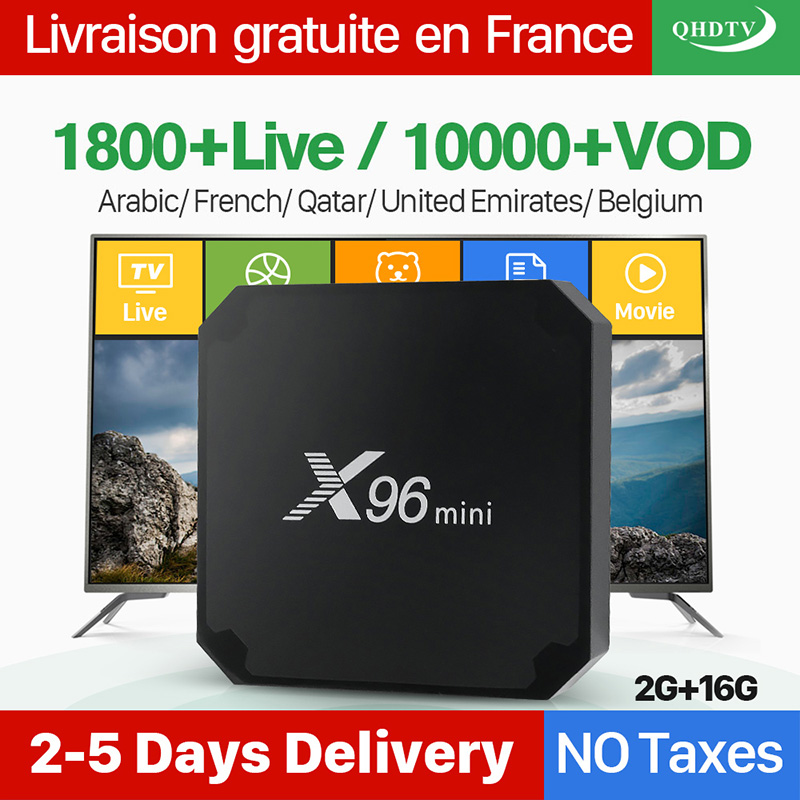 X96 Mini Arabic France IPTV Receiver Android 7 1 2G 16G S905W Quad Core 2 4G