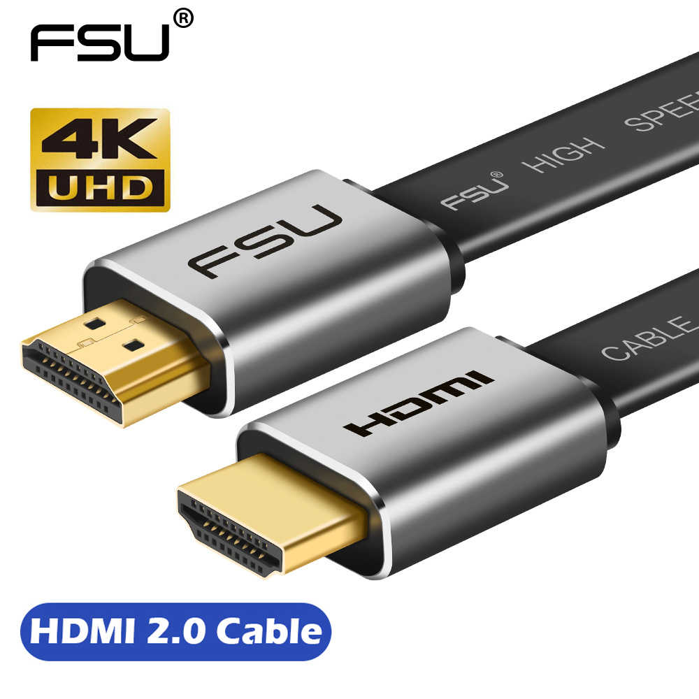 Kabel FSU High Speed V2.0 HDMI 4K * 2K z męskiego na męskie 3D 1080P HD do monitora komputer TV PS3/4 projektor HDTV 0.5m 1m 1.5m 2m 3m