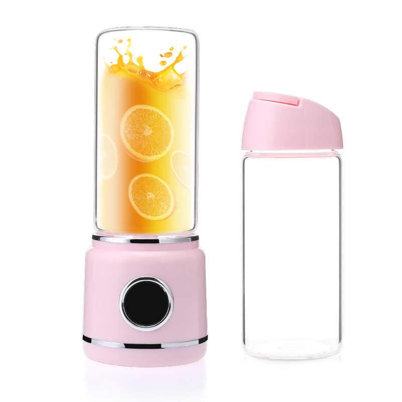 Dual LED Miniแบบพกพาเครื่องปั่นเครื่องคั้นน้ำบ้านเครื่องผสมไฟฟ้าคั้นน้ำผลไม้USB Licuadoraน้ำผลไม้Smoothieเครื่อง