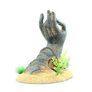 Image 3 - Fish Tank Decorations Buddha Hand Statue Aquarium Ornaments PXPC