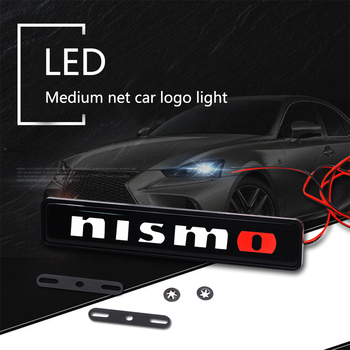 Car sticker front grille emblem LED decorative lights for Nismo Nissan Qashqai Juke X-trail Tiida Teana Car styling ветровики skyline nissan teana 2014 хром молдинг