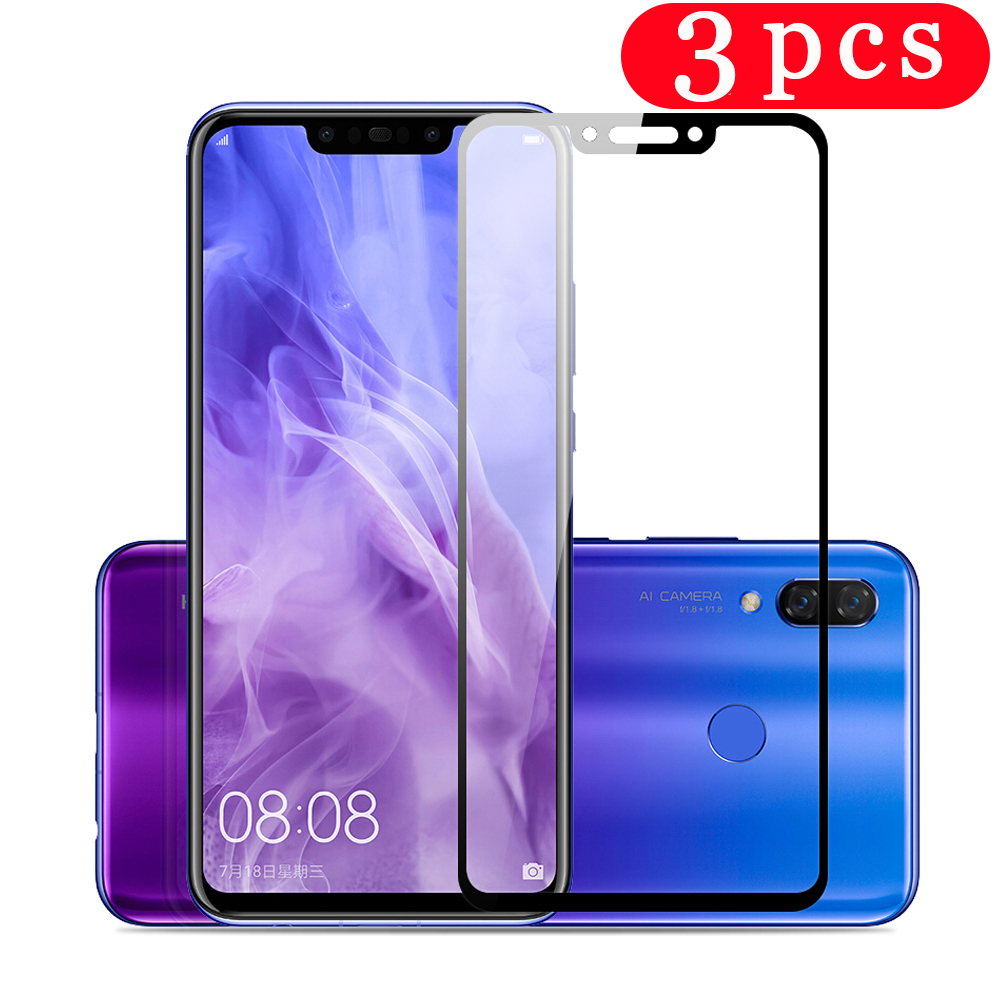 3Pcs tempered glass for <font><b>huawei</b></font> <font><b>p</b></font> <font><b>smart</b></font> plus 2018 <font><b>2019</b></font> 2020 <font><b>p</b></font> <font><b>smart</b></font> pro Z S protective film phone screen protector <font><b>smartphone</b></font> image