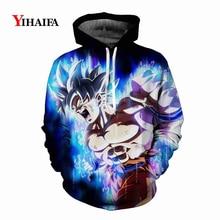 Newest Mens Womens 3D Sweatshirt Dragon Ball Z Anime Hoodies Galaxy Roaring Goku Graphic Print Funny Cosplay Pullover Tops