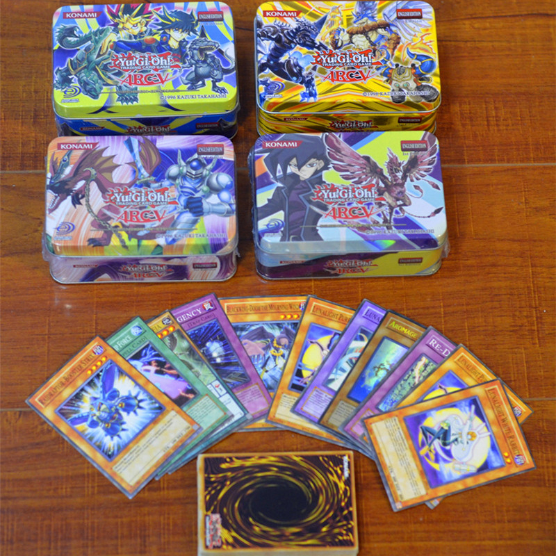 41pcs/set Yu Gi Oh Games Not Repeating English Cards Game Collection Cards With Metal Box Toys For Kids