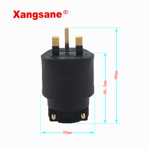 Image 2 - XangSane HI UK Британский стандарт позолоченный/позолоченный guy fever шнур питания штепсельная вилка hifi аудио кабель 13A 250В