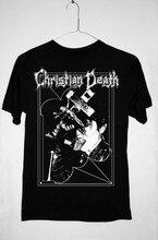 Camiseta christian death-only theater of pain rozz williams ou manga comprida