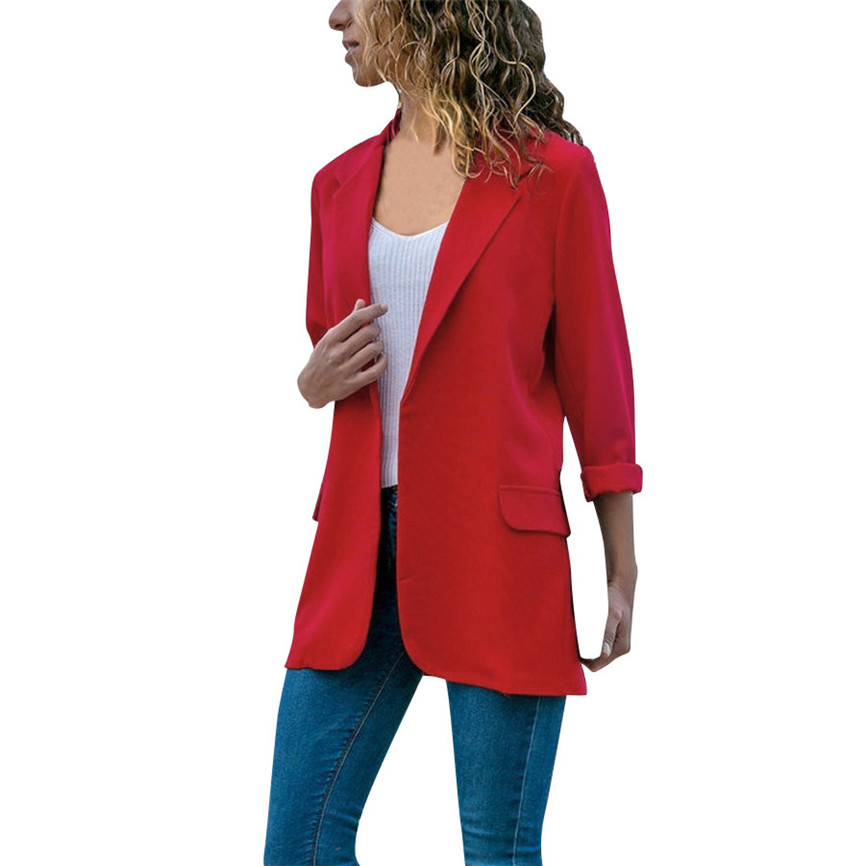 2020 Female Jacket Fashion Long Sleeve Female Bomber Jackets Cardigans Solid Color Coat Open Front Jackets Trench Coat