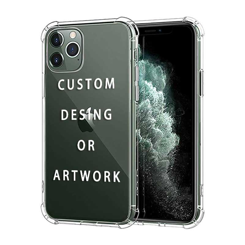 На заказ DIY Прозрачный 3D Противоударный Толстый чехол для телефона s Чехол для iPhone 11 pro Xs Max xr 6s 7 8 Plus Мягкий силиконовый чехол