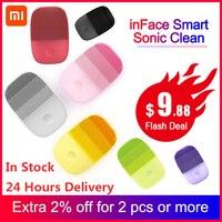 InFace Smart Sonic Sauber Elektrische Tiefe Gesichts Reinigung Massage Pinsel Waschen Gesicht Pflege Reiniger Wiederaufladbare (Xiaomi Eco kette)-in Intelligente Armbänder aus Verbraucherelektronik bei