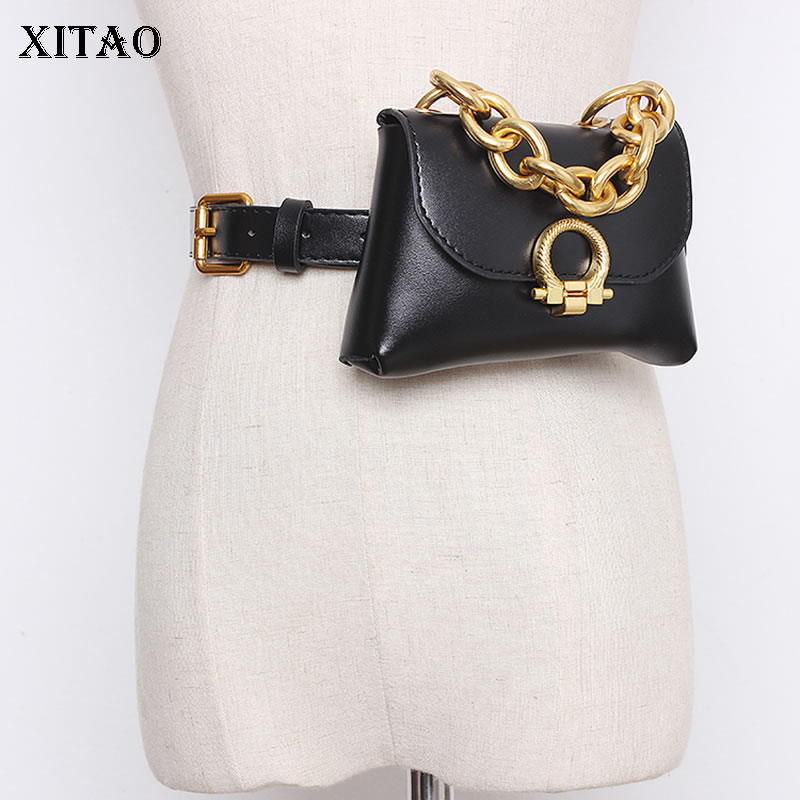 XITAO 2020 New Concave Shape European And American Style Gold Chain Fashion Wild Women Fashion Minority Cummerbunds XJ3874