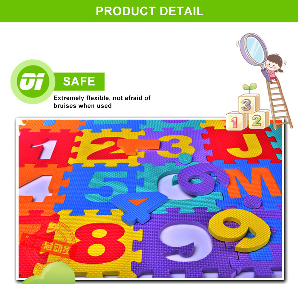 H443ec359b3f54169b2faff48f757b5e1v Baby Play Mat 36pcs/Set EVA Baby Foam Clawling Mats Puzzle Toys For Kids Floor Mat Number Letter Childrens Carpet 15.5*15.5cm