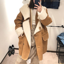 Women Trench 2020 Winter New Thick Faux Fur All-in-one Fur Coat Women