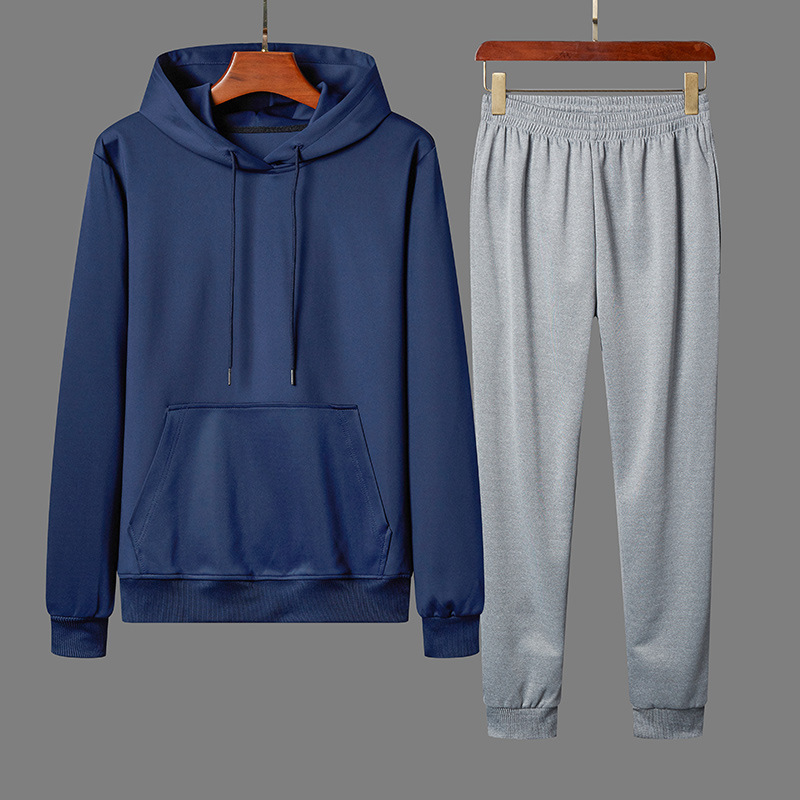Spring And Autumn Leisure Sports Suit COUPLE'S Hooded Loose And Plus-sized Hoodie Skinny Pants Teenager Korean-style Customizabl