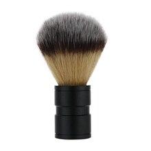 1 шт., Мужская Нейлоновая Щетка для бритья, металлический оксид алюминия, ручка, комплекты бритв, мужской инструмент для чистки бороды и лица, черный цвет