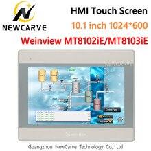 Weinview mt8102ie mt8103ie hmi tela de toque 10.1 Polegada 1024*600 interface da máquina humana substituir weintek mt8101ie mt8100ie newcarve
