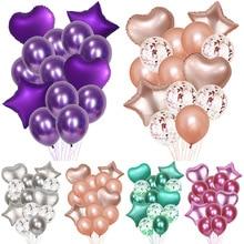 14Pcs/Set Confetti Balloons Birthday Wedding Valentines Day Decoration DIY Party Accessories Home Festival Decor