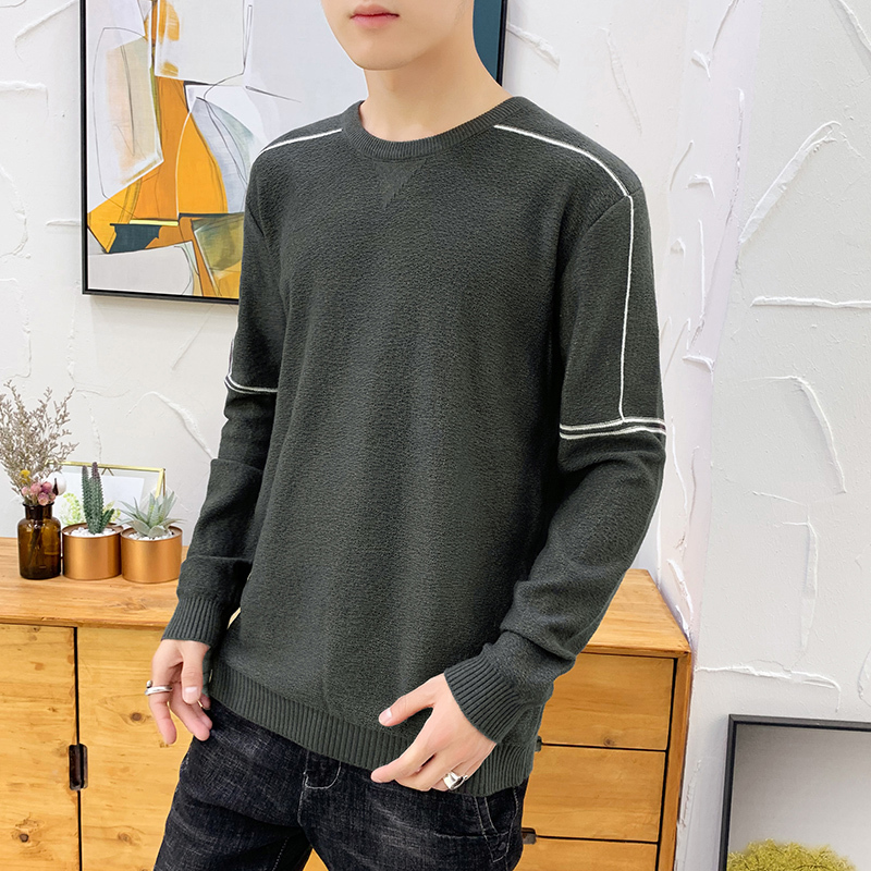 Winter Sweater Men's Slim Warm Fashion Solid Color Knitted Pullover Man Streetwear Wild Long-sleeved Sweater Male Clothes M-3XL