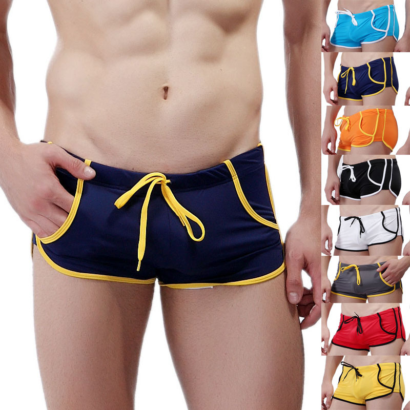 Mens Swim Shorts Summer Board Surf Quick Dry Micro Swimwear Beach Short Male Running Gym Pocket Trunks Boardshorts Boxer Homme
