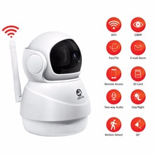 JOOAN 무선 IP 카메라 2MP Wifi 보안 홈 네트워크 비디오 감시 미니 애완 동물 카메라 실내 베이비 모니터 1080P