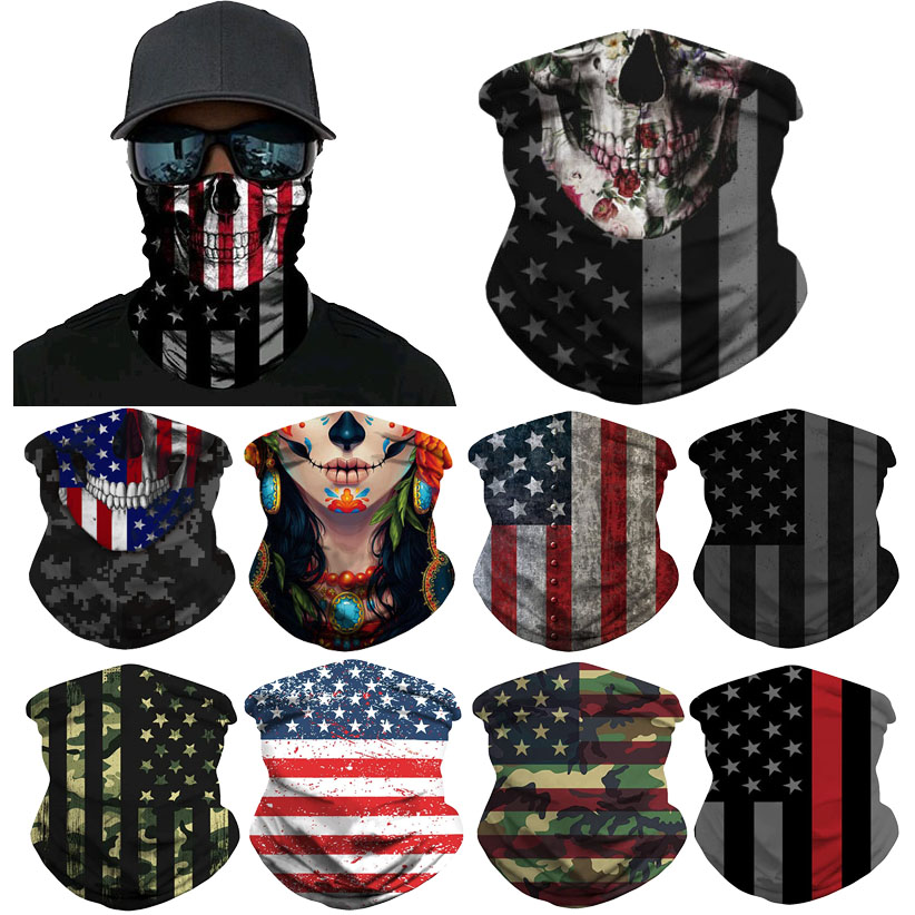 Skull Face Mask Outdoor Riding Mask Bicycle Ski Skull Half Face Mask Ghost Scarf Multi Use Neck Dustproof