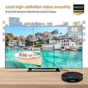 Image 2 - HK1 最大アンドロイド 9.0 TV ボックス 4 18K Youtube の Google アシスタント 4 グラム 64 グラム 3D ビデオテレビ受信機無線 lan プレイストアセットトップ Tv ボックス