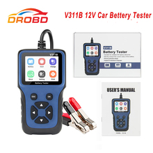 V311B 12V Tester akumulatora samochodowego automatyczne narzędzie diagnostyczne motoryzacja 12V akumulator samochodowy analizator czytnik kodów dla samochodów/ciężarówek/motocykli