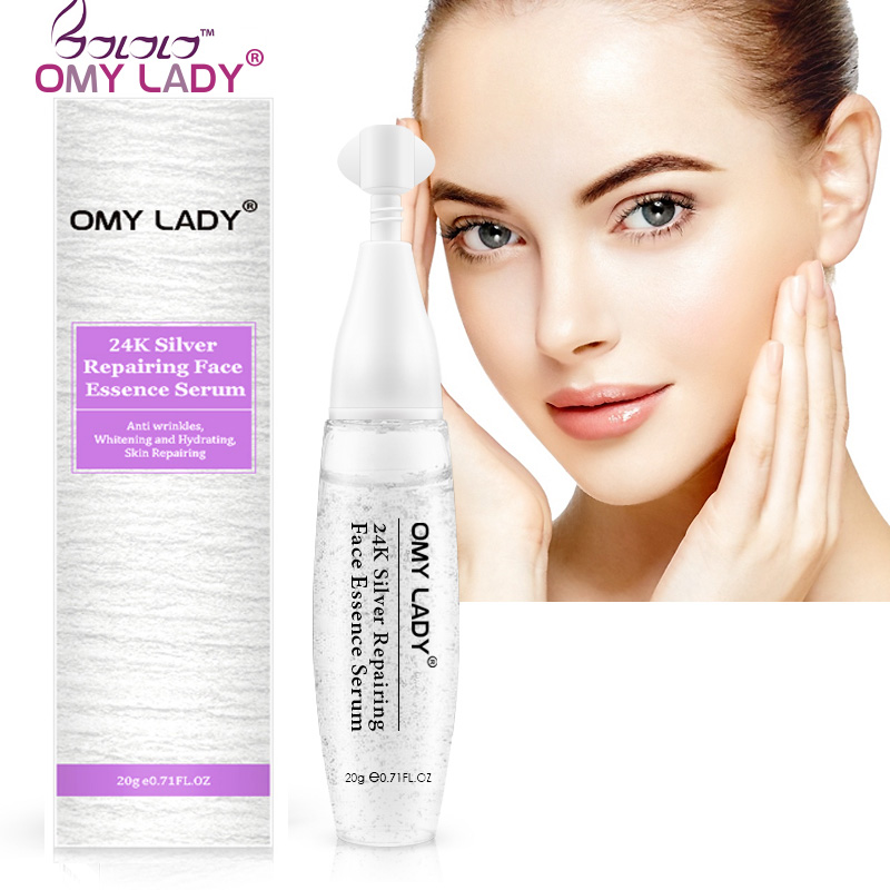 OMYLADY 24K Silver Repairing Face Essence Serum  Face Serum Skin Care Shrink Pores Anti Aging Intensive Lifting Firming