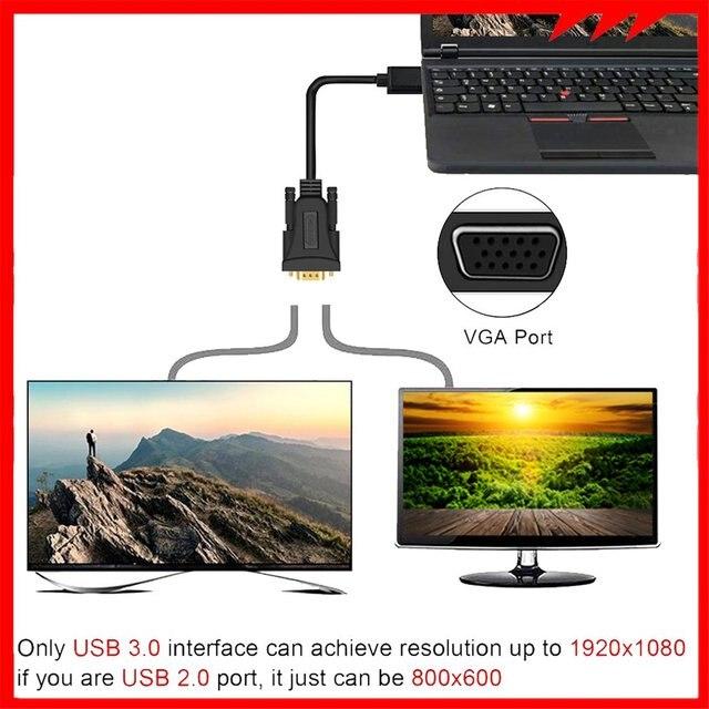 Купить usb кабель 30 папа vga 15/2/3/5 м usb адаптер аудио видео практичный картинки цена