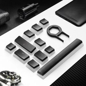 Image 3 - Havit hv Keycaps Doppio Colpo Retroilluminato PBT Budino Keycap Set con Estrattore compatibile con Cherry MX Tastiera Meccanica, in Bianco e nero