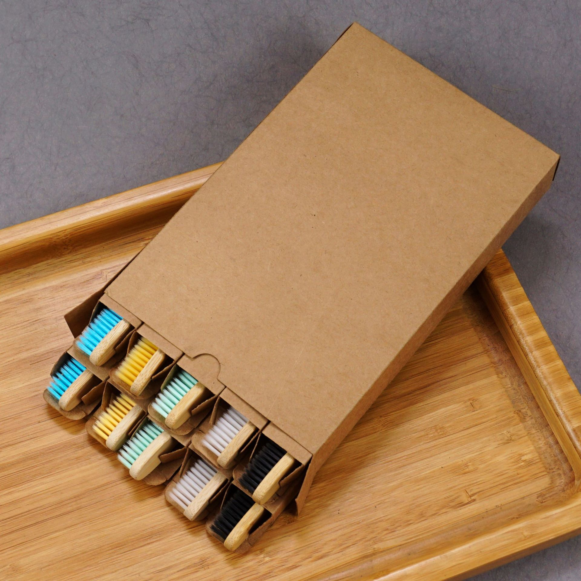 2020 набор зубных щеток для взрослых плоская бамбуковая деревянная цветная бамбуковая мягкая бамбуковая неодноразовая зубная щетка 10