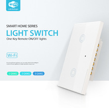 2CH Z-wave Plus US Touch Smart Switch 2 Gang Smart Light Switch Panel US For Alexa Google Home Tuyasmart Smart Life tanie tanio NAS-SC02WU 2 4GHz IEEE 802 11b g n 74x 37 x 120mm