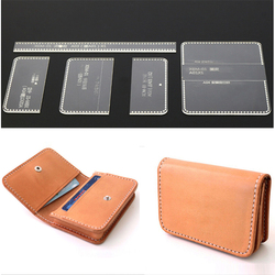 5x/ Set Template Acrylic Pattern Stencils For Leather Card Bag Holder Wallet