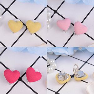 New 1 Pair Heart And Star Flower Shape Children Earrings Lovely Pearl Earrings For Girls Without Ear Hole Clip Earrings