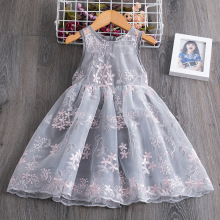 Girl Dress Kids Dresses for Girls Mesh Casual Lace Embroidery Princess Baby Girl Clothes Summer Sleeveless Dress Kids Clothes 7y nimble girls dress roupas infantis menina baby girl clothes vestido kids dresses for girls robe fille baby girl clothes moana