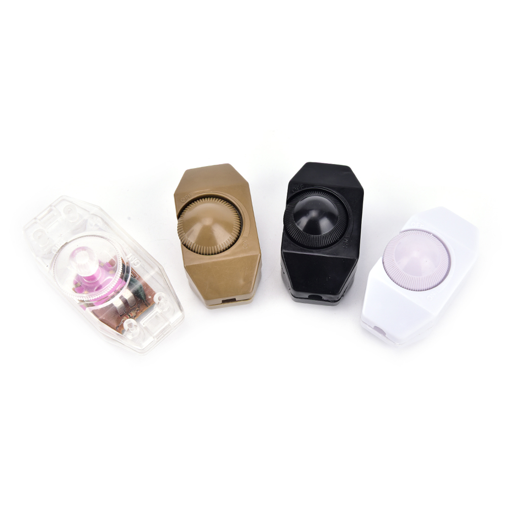 High Quality Lamp Dimmer Cord Switch Plug In Table Floor Light Dimming On Off  Dimmer Switch 1A60w