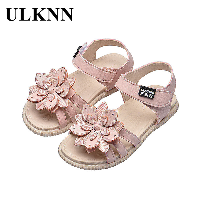 ULKNN Girls Sandals Summer Hot Children Rain Shoes Big Girls Beach Sandal Kids Shoes PVC Sandal  Cheap Primary School Student