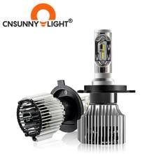 CNSUNNYLIGHT araba LED far lambaları hepsi bir arada H7 H11 H1 880 H3 9005 9006 9012 5202 72W 8500LM H4 H13 9007 yüksek düşük ışın ışıkları