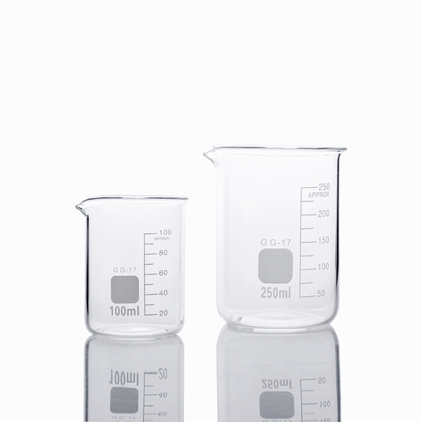 Borosilicate Glass Measuring Low Form Beaker 100ml 250ml Measuring Cup For Baking, Handmade Soap, Chemistry Laboratory