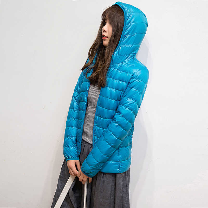 חדש קל במיוחד ברווז למטה מעילי נשים סלעית חורף מעיל ארוך שרוול חם Slim בתוספת גודל מעיל גברת בגדי סתיו מעיילי