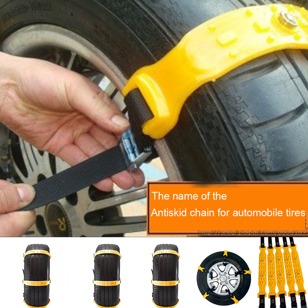 10 Pcs TPU Auto Tire Snow Chains Anti-Skip Belt Safe Driving For Snow Ice Sand Muddy Offroad For Truck Car SUV VAN Wheel image