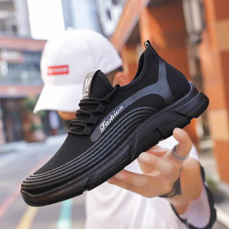 Ultra-Light Polyurethane Breathable Fly Weaving Men Running Shoes Fashion Ku Han Version Versatile Fashion Sports Footwear