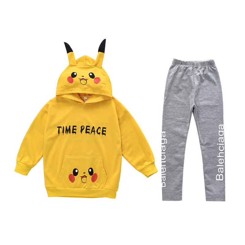 Children Clothes Autumn Cartoon Girls Sets Long Sleeve Tracksuit 2- 13 Years hoodies Girls Clothing Sport Suit Kids Clothes Sets 6
