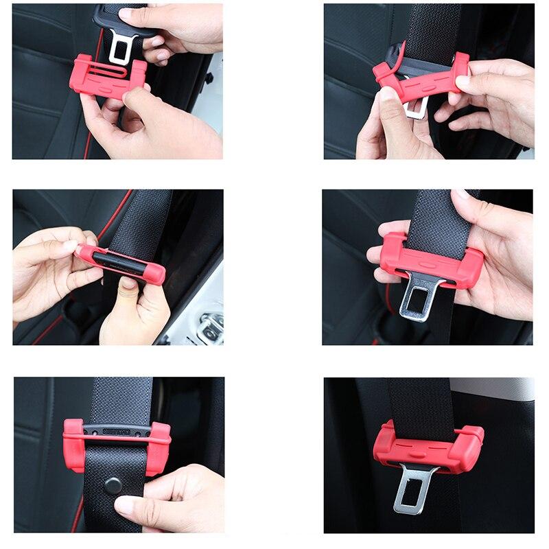 1 Pc Sitz Silikon-Auto-Sicherheits-G/ürtelschnalle-Universal-Automatik-Schutz-Scratch-Knopf Innentitel Zubeh/ör wei/ß und Licht-Stecker