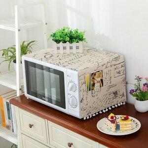 Tampa de microondas para cozinha, capa para forno, microondas, poeira e acessórios de cozinha, decoração para casa