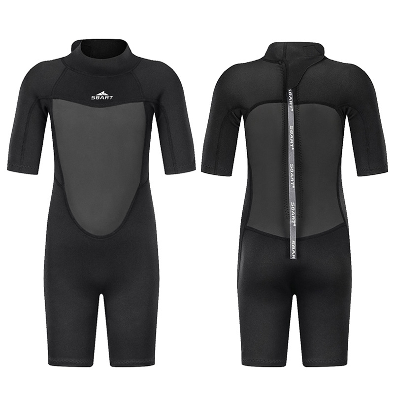2019 Sbart 2MM Snorkeling Suit Quick-Dry One-piece Warm Small Middle And Large Sun-resistant Children Diving Suit Bathing Suit M