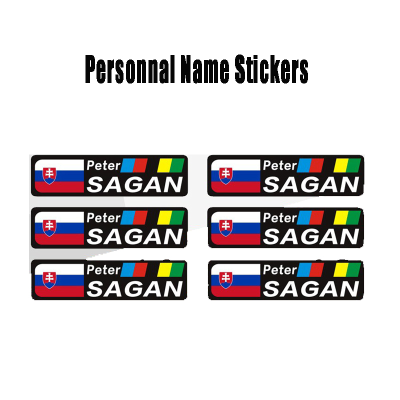 6  CYCLE HELMET OR FRAME NAME STICKERS BMX MOUNTAIN BIKE CYCLING SKATE BOARD