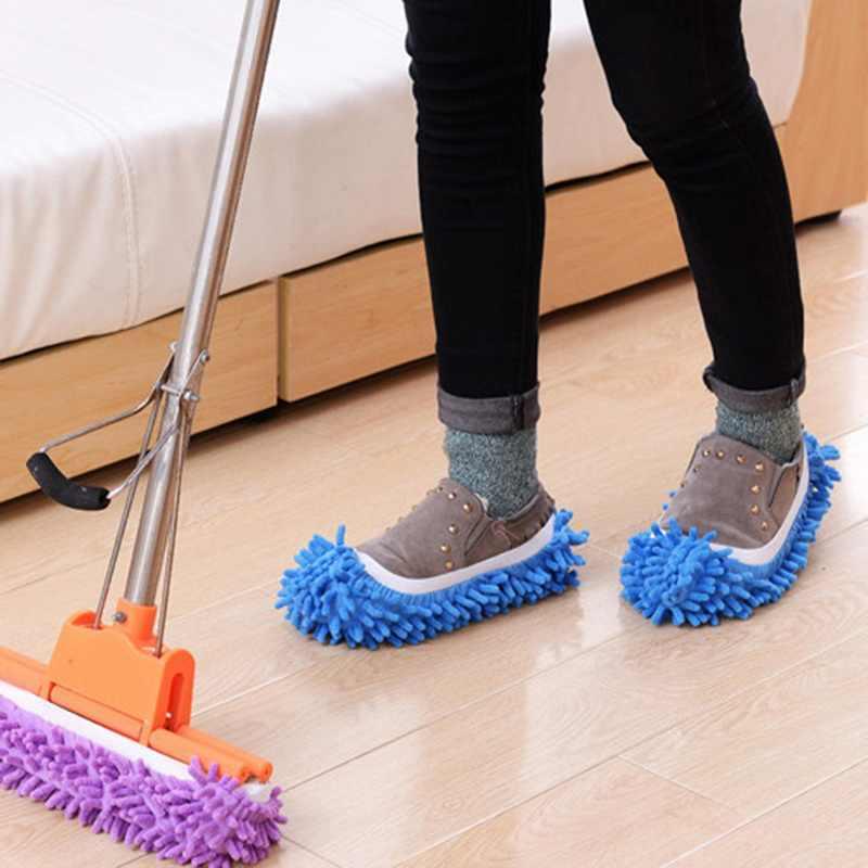 1 adet mikrofiber zemin paspası temizlik tembel bulanık terlik ev ev döşeme araçları ayakkabı banyo mutfak temizleyici