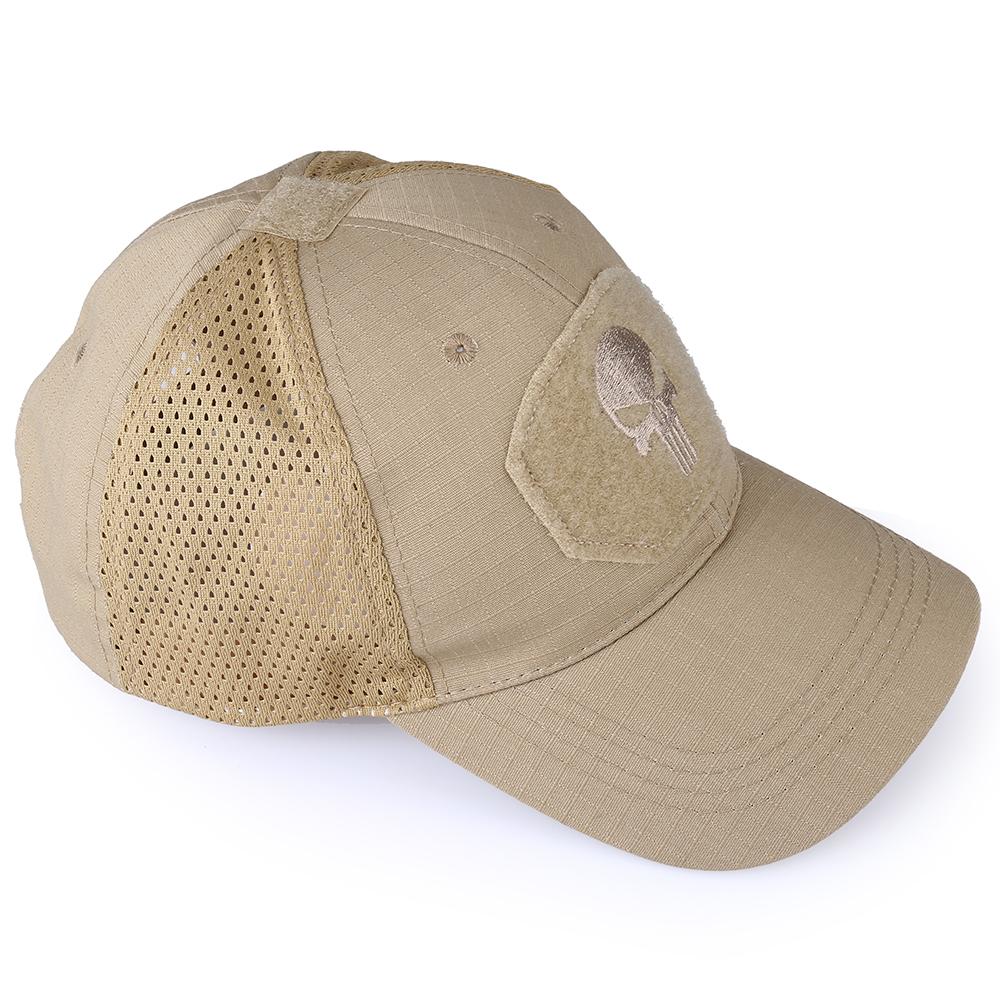 Skull Tactical Military Airsoft Cap Adjustable Breathable Sun Visor Trucker Hat Mesh Hunting Hiking Baseball Skeleton Snapback 35