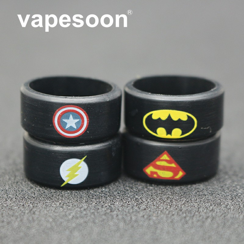 22*10*2.0 Muti-Design Silicone Rubber Vape Ring Rubber Anti Slip Band For Mechanical Mod RBA RDA Vaporizer Tank
