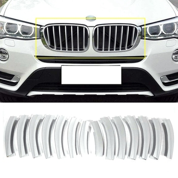 Auto Grille Grid Molding Trim Cover Voor Bmw X3 F25 2011-2017